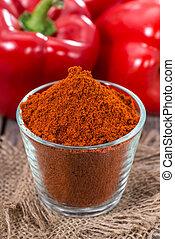 Portion of Paprika Powder