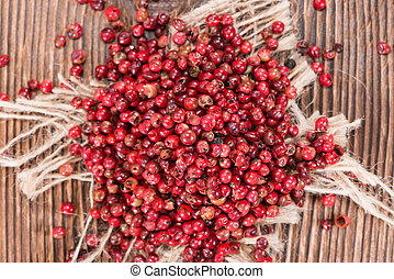 Portion of Pink Peppercorns - Portion of dried Pink ...