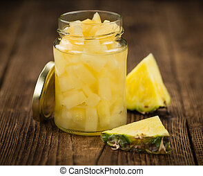 Portion of Preserved Pineapple pieces - Portion of fresh...