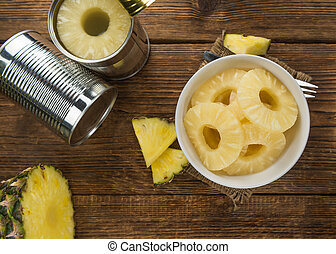 Portion of Preserved Pineapple Rings - Fresh made Preserved ...