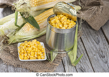 Portion of preserved Sweetcorn - Portion of Preserved ...