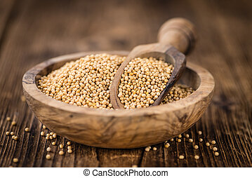 Portion of Seeds (Mustard) (selective focus) - Portion of...