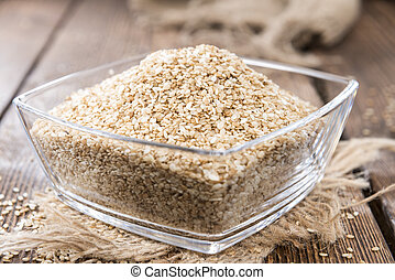 Sesame - Portion of Sesame (detailed close-up shot) on ...