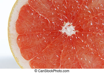 portion of sliced citrus