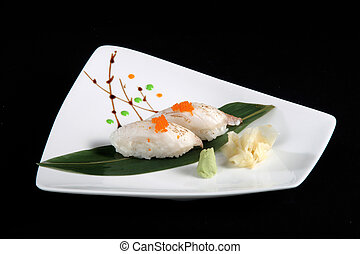 portion of sushi h