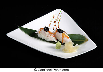 portion of sushi l