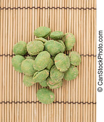 Portion of Wasabi Peanuts