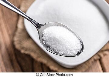 Portion of White Sugar (detailed close-up shot; selective...