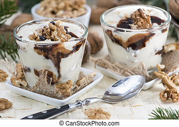 Portion of Yoghurt - Portion of Walnut Yoghurt with...