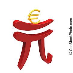 portion, renminbi, euro