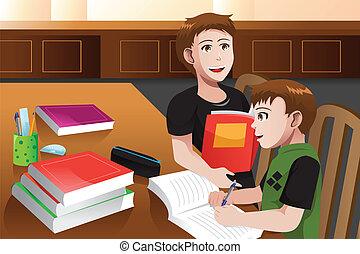 portion, sien, père, devoirs, fils