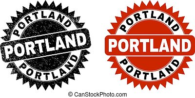 PORTLAND Black Rosette Seal with Corroded Surface