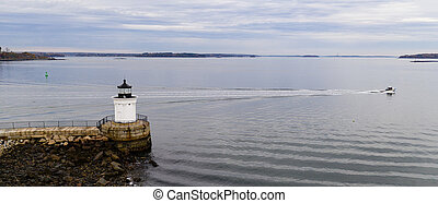 Portland Breakwater Lighthouse Bug Light Leads Mariners into The Harbor
