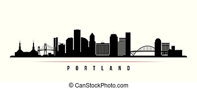 Portland City skyline horizontal banner.