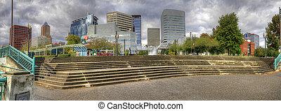 Portland Downtown Skyline Panorama