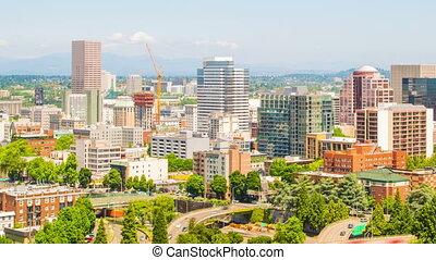 Portland Downtown Sunny