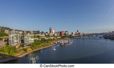 Portland Downtown Waterfront 714 - Time lapse of downtown...