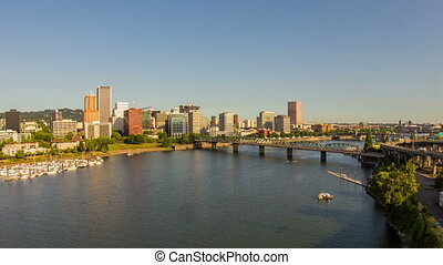 Portland Downtown Waterfront 718 - Time lapse of downtown...