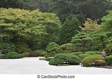 portland, giapponese, oregon, giardino