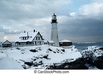 Portland Head Lighthouse - Lighthouse at Portland Head,...