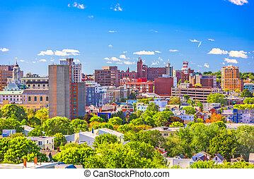 Portland, Maine, USA downtown skyline.