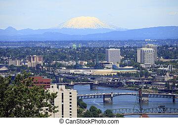 Portland & Mt. St. Helen\\\'s. - A view looking NE at Mt....