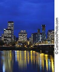 Portland OR. at twilight.