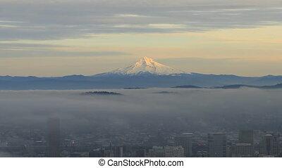 Portland OR with Mount Hood