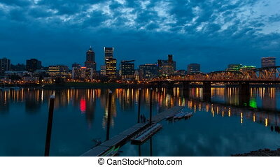 Portland Oregon City Skyline 1080p