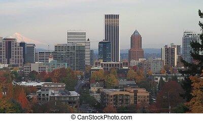 Portland Oregon Cityscape in Fall