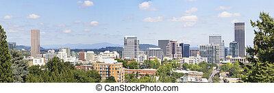 Portland Oregon Downtown Panorama