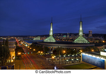 Portland Oregon Downtown Skyline at Blue Hour 2