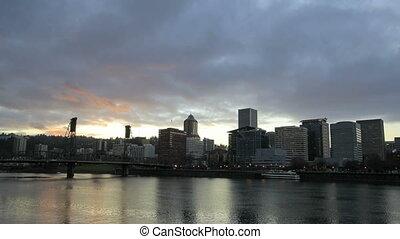 Portland Oregon Downtown Time Lapse