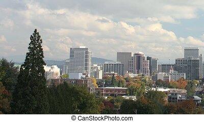 Portland Oregon in Fall Timelapse