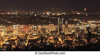 Portland Oregon, USA Fireworks.