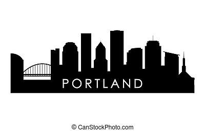 Portland skyline silhouette.