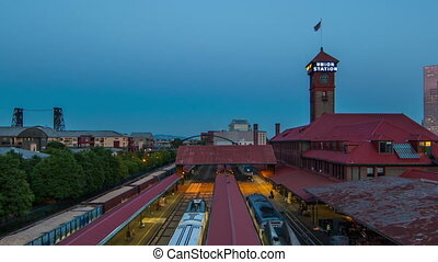 Portland Union Station - Time lapse of union station in...