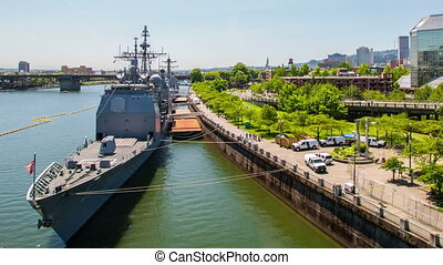 Portland Waterfront Naval Boats - Time lapse of navy boats...