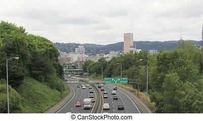 Portland, zwischenstaatlich, oder,  i-84, Landstraße