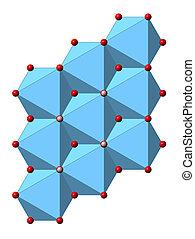 Portlandite (calcium hydroxide, Ca(OH)2, slaked lime,...