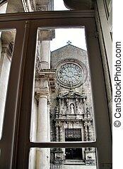 porto, 教会, 古い, 石, ファサド, 聖者, francis