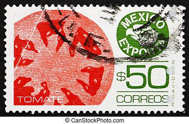 porto, 1987, mexikansk, mexico, frimærke, tomater, eksporter