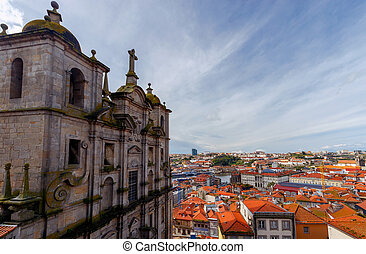 Porto. Aerial view of the city.