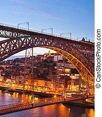 Porto at beautiful twilight, Portugal