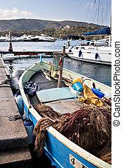 PORTO AZZURO, ELBA ISLAND, ITALY -AUGUST, 2011: Port area in Porto Azzurro on Elba Island, Italy on August, 2011.