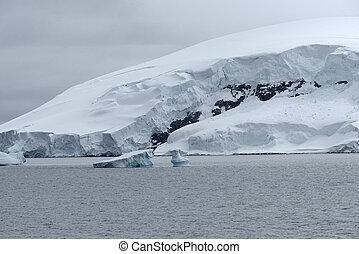 porto, baía, andvord, península, gelado, neko, antárctico, paisagem