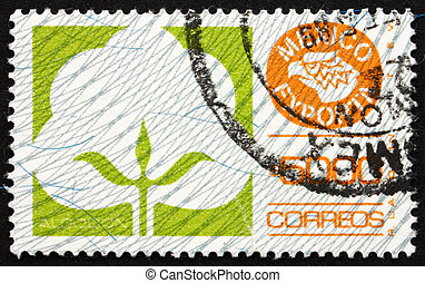 porto, bomuld, mexikansk, mexico, frimærke, 1988, eksporter