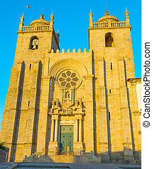 Porto Cathedral at sunset. Portugal