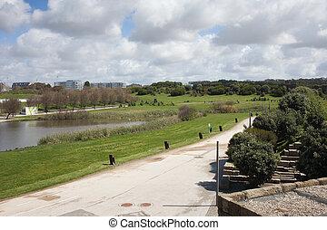 porto, cidade, ciudad del parque