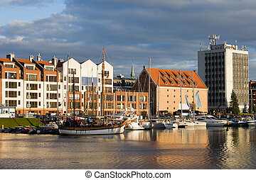 porto, cidade,  Gdansk